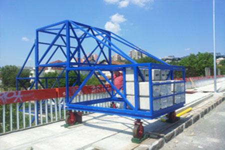 Radna platforma za rad i kontrolu mostova